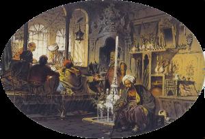 昔の中東の喫茶店