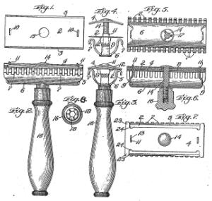 ジレット安全剃刀の特許の図